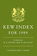 n: Kew Index for 1989 (N)
