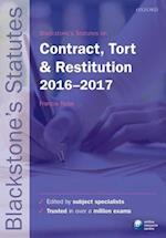 Blackstone's Statutes on Contract, Tort & Restitution 2016-2017 (Blackstone's Statute Series)