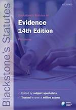 Blackstone's Statutes on Evidence (Blackstone's Statute Series)