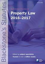 Blackstone's Statutes on Property Law 2016-2017 (Blackstone's Statute Series)