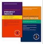 Pack of Oxford Handbook of Emergency Medicine and Oxford Handbook of Acute Medicine