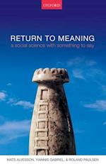 Return to Meaning