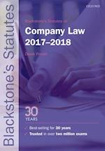 Blackstone's Statutes on Company Law 2017-2018 (Blackstone's Statute Series)