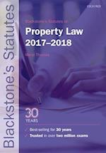 Blackstone's Statutes on Property Law 2017-2018 (Blackstone's Statute Series)