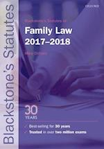Blackstone's Statutes on Family Law 2017-2018 (Blackstone's Statute Series)