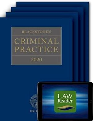 Blackstone's Criminal Practice 2020 (Book, All Supplements, and Digital Pack)