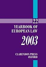 Yearbook of European Law (YEARBOOK OF EUROPEAN LAW)