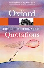 Concise Oxford Dictionary of Quotations (Oxford Paperback Reference)