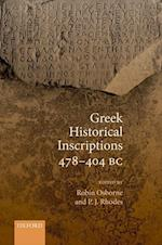 Greek Historical Inscriptions 478-404 BC