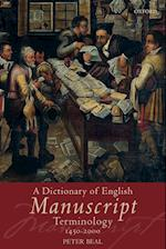 A Dictionary of English Manuscript Terminology