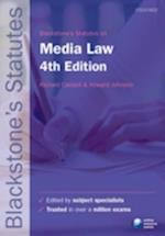 Blackstone's Statutes on Media Law (Blackstone's Statute Series)