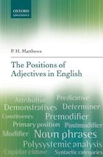 The Positions of Adjectives in English