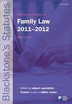 Blackstone's Statutes on Family Law (Blackstone's Statute Series)
