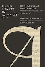 Piano Sonata in Ab, Op. 110: Beethovens Last Piano Sonatas, An Edition with Elucidation, Volume 2 af Heinrich Schenker