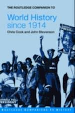 Routledge Companion to World History since 1914 af John Stevenson