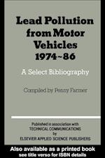 Lead Pollution From Motor Vehicles 1974-1986