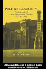Politics and Society af Peter Gordon
