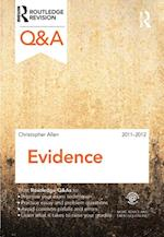 Q&A Evidence 2011-2012 (Questions and Answers)