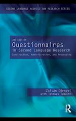 Questionnaires in Second Language Research af Zoltan Dornyei