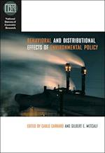 Behavioral and Distributional Effects of Environmental Policy (National Bureau of Economic Research Conference Report Hardcover)