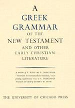 Greek Grammar of the New Testament and Other Early Christian Literature af etc