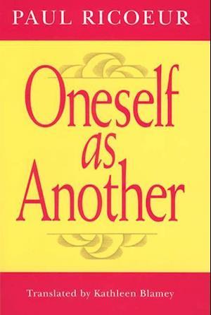 Bog paperback Oneself as Another af Paul Ricoeur Kathleen Blamey