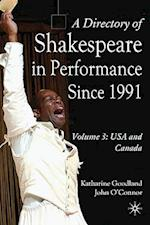 A Directory of Shakespeare in Performance Since 1991 (Directory of Shakespeare in Performance, nr. )