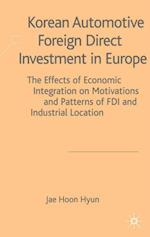 Korean Automotive Foreign Direct Investment in Europe