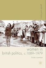 Women in British Politics, c.1689-1979