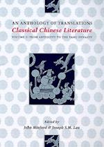 Classical Chinese Literature: An Anthology of Translations