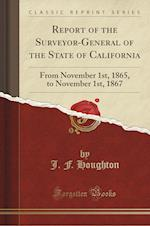 Report of the Surveyor-General of the State of California: From November 1st, 1865, to November 1st, 1867 (Classic Reprint)
