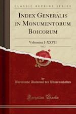 Index Generalis in Monumentorum Boicorum, Vol. 2