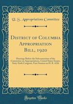 District of Columbia Appropriation Bill, 1920