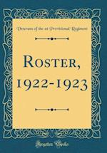 Roster, 1922-1923 (Classic Reprint)