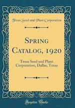 Spring Catalog, 1920