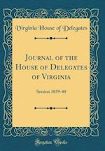 Journal of the House of Delegates of Virginia