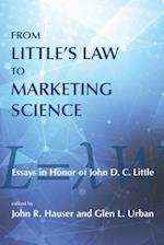 From Little's Law to Marketing Science af John R. Hauser