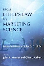 From Little's Law to Marketing Science af John R. Hauser, Glen L. Urban