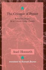 The Critique of Power (Studies in Contemporary German Social Thought)