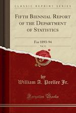 Fifth Biennial Report of the Department of Statistics, Vol. 11