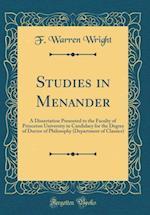 Studies in Menander af F. Warren Wright