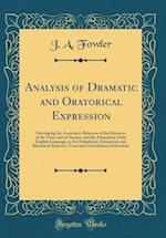 Analysis of Dramatic and Oratorical Expression