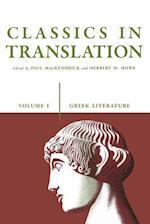 Classics in Translation, Volume I (Greek Literature, nr. 1)