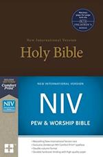 NIV, Pew and Worship Bible, Hardcover, Brown