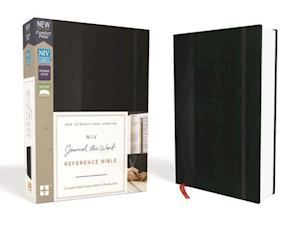 NIV, Journal the Word Reference Bible, Hardcover, Black, Red Letter Edition