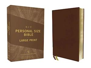 Niv, Personal Size Bible, Large Print, Genuine Leather, Buffalo, Brown, Red Letter Edition, Comfort Print