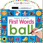 Wipe Clean First Words (Wipe Clean)