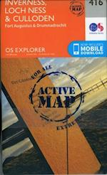 Inverness, Loch Ness and Culloden (OS Explorer Active Map, nr. 416)