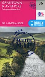 Grantown, Aviemore & Cairngorm Mountains (OS Landranger Map, nr. 036)