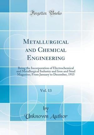 Bog, hardback Metallurgical and Chemical Engineering, Vol. 13 af Unknown Author